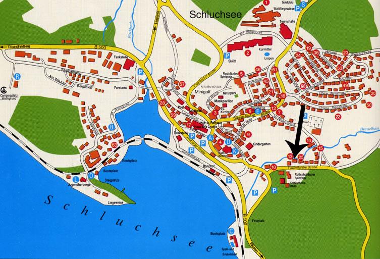 Karte Vom Ort Schluchsee